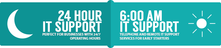 24 hour IT Support - key service elements logo