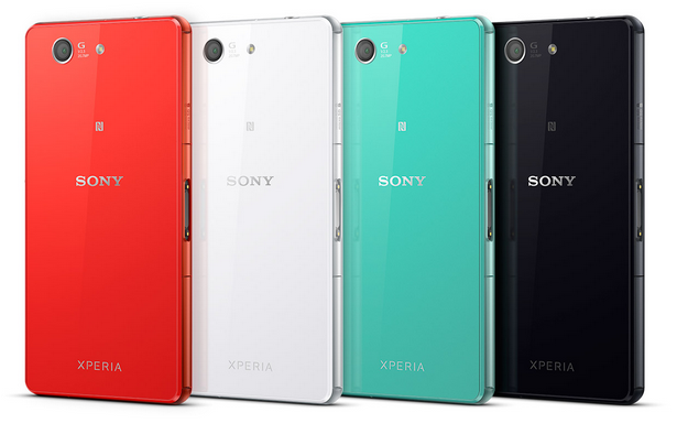 Sony Xperia Z3 Compact different colours